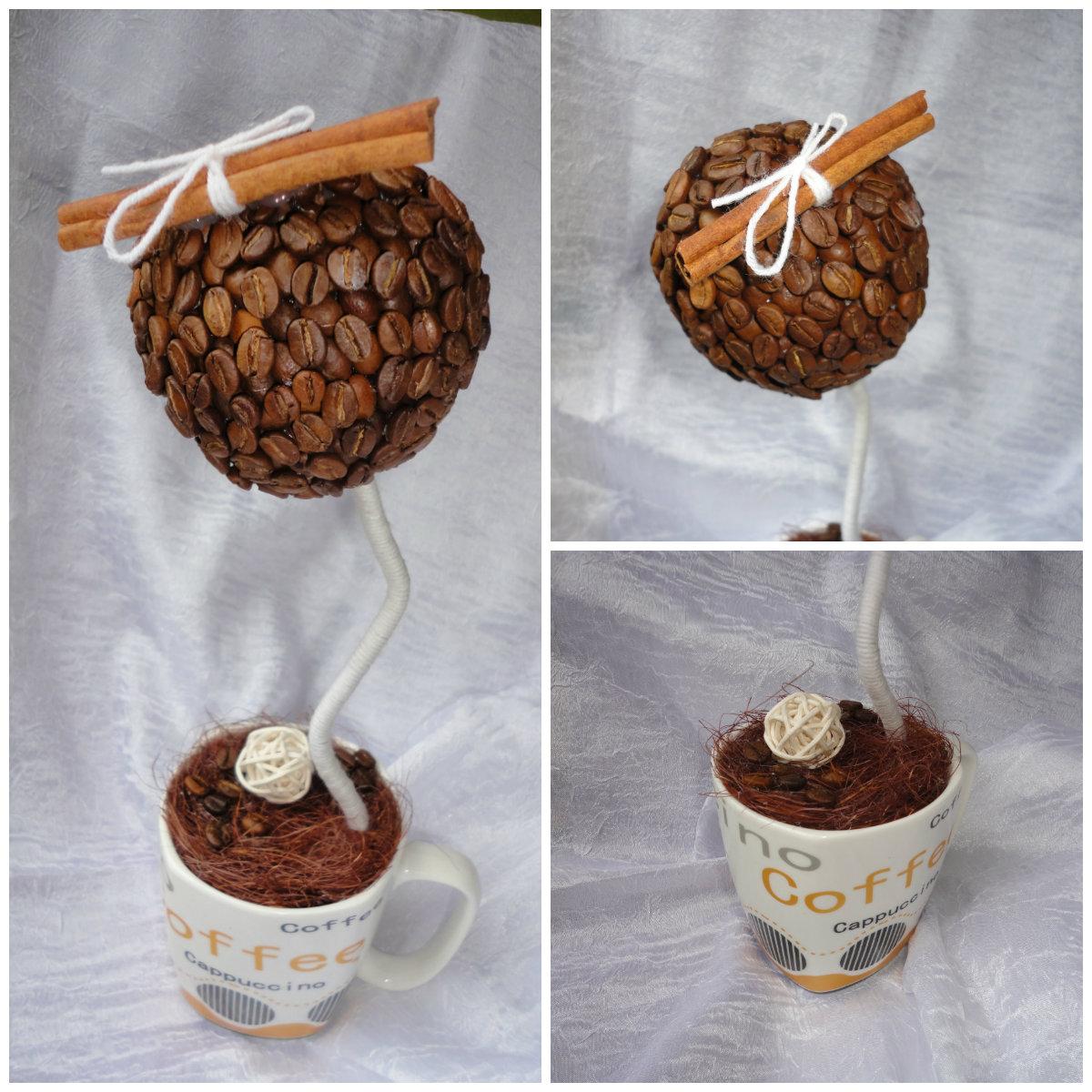Топиарий из зёрен кофе 98